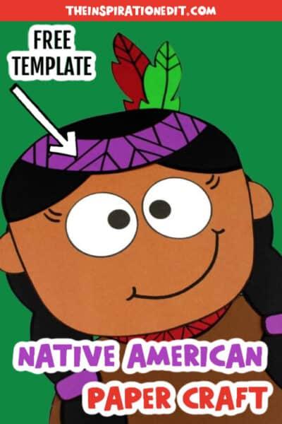 NATIVE AMERICAN GIRL TEMPLATE
