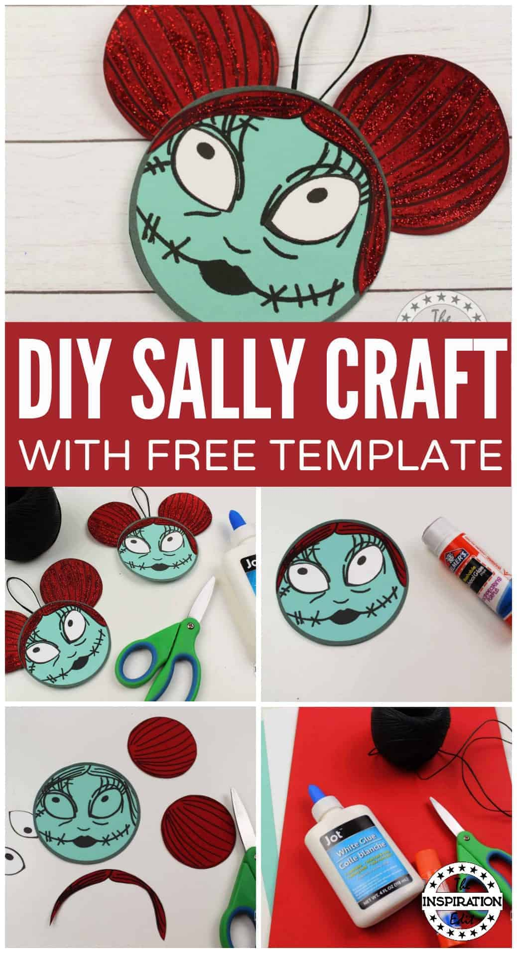 DIY SALLY CRAFT from the disney movie the nightmare before christmas