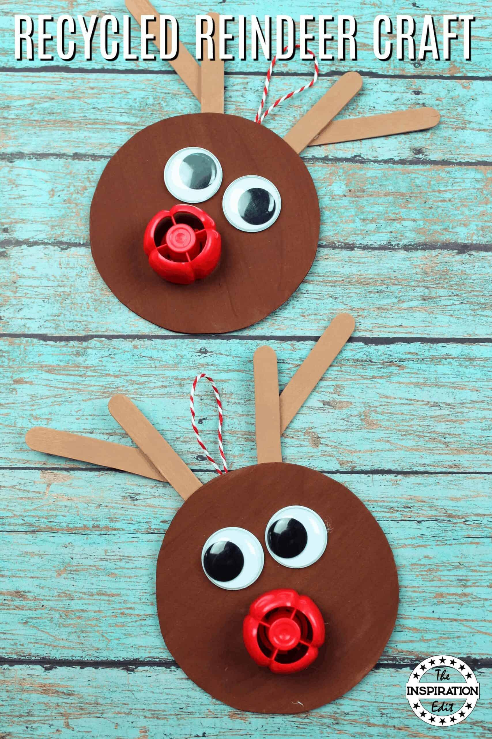 recycled reindeer craft