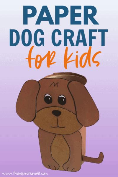 paper dog preschool craft for kids