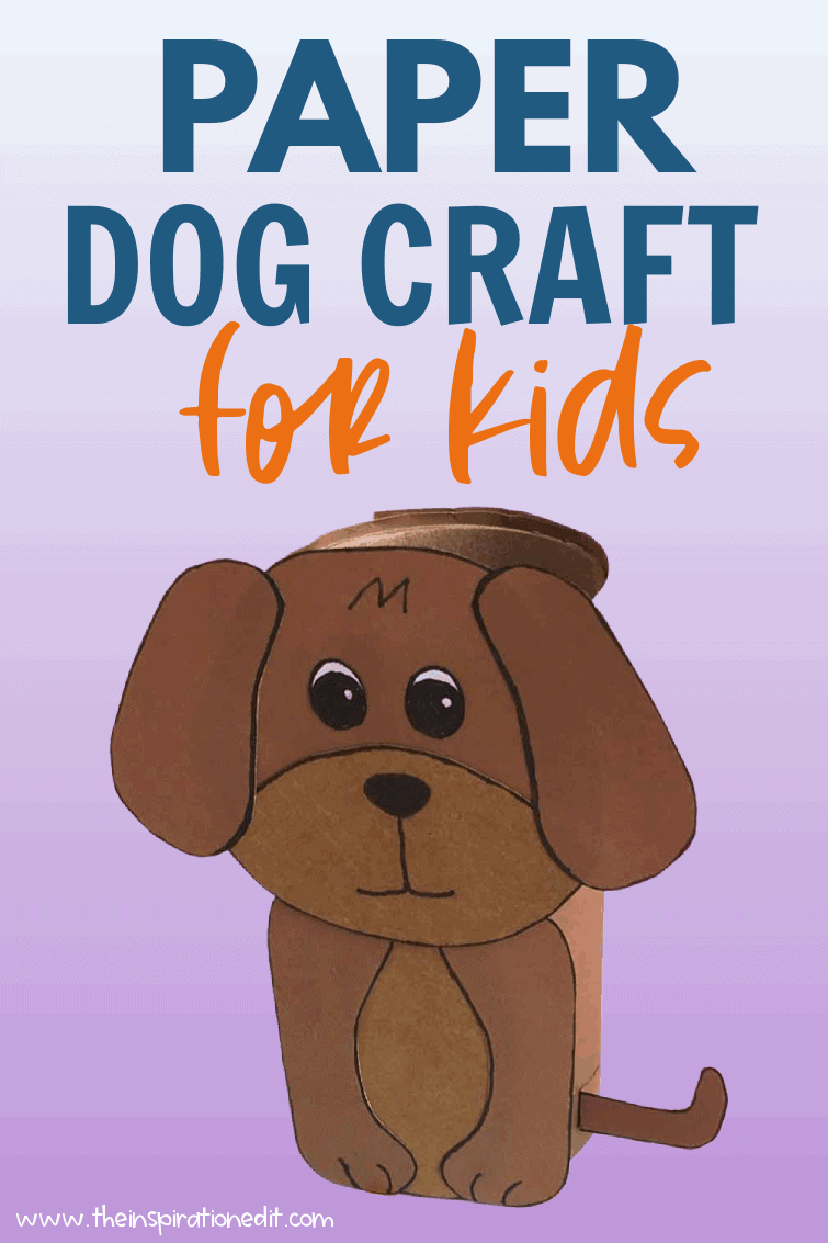 paper dog preschool craft for kids