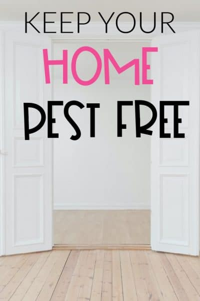 KEEP YOUR HOMES PEST FREE