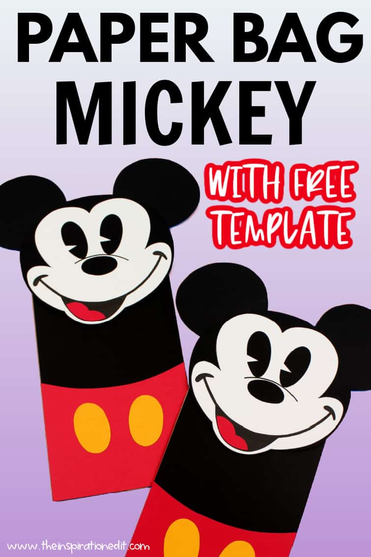 mickey mouse paper bag puppet