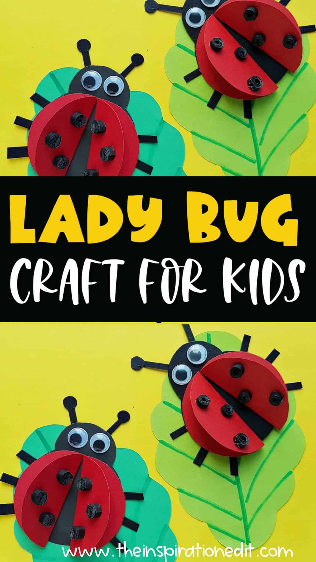 lady bug paper craft for kids