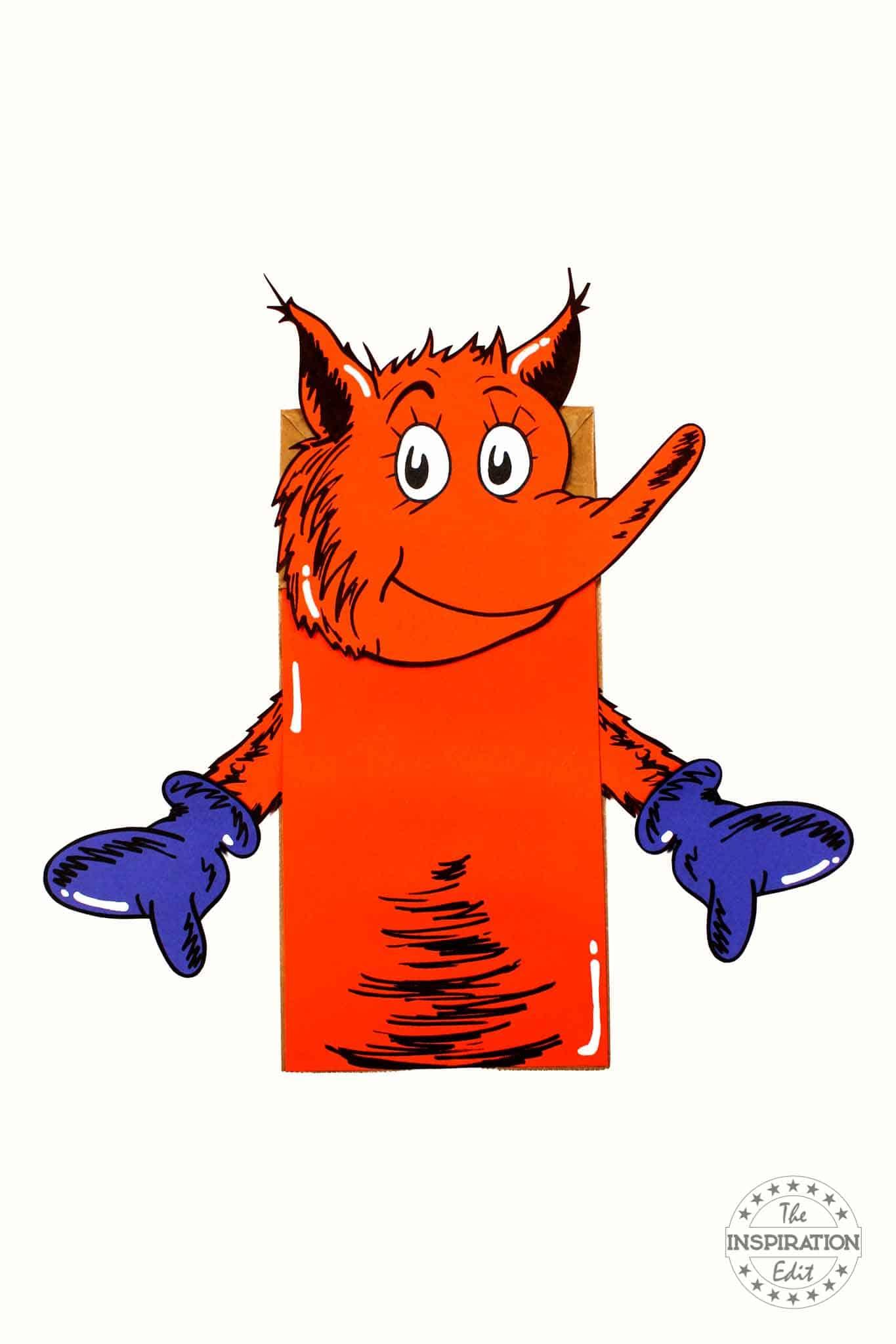 fox in socks puppet