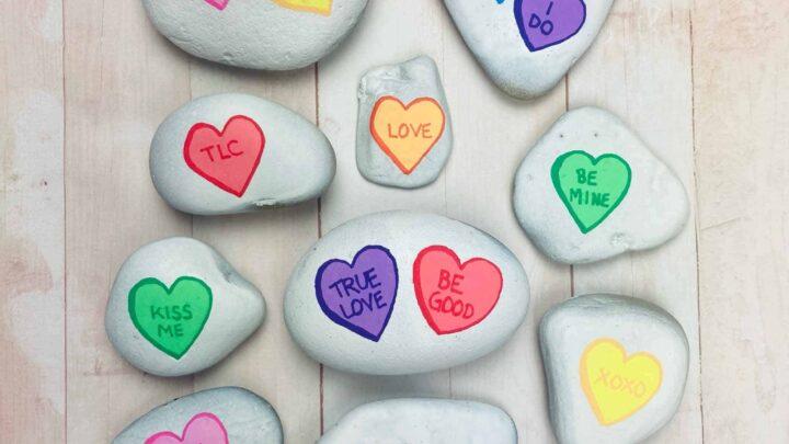 valentines heart stones
