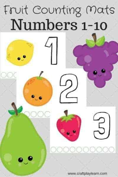 fruit counting mats