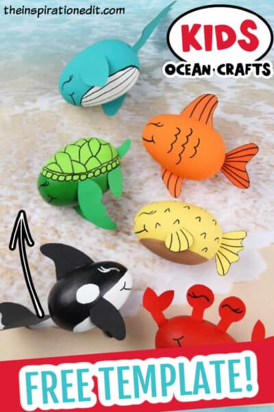 ocean creatures preschool craft idea