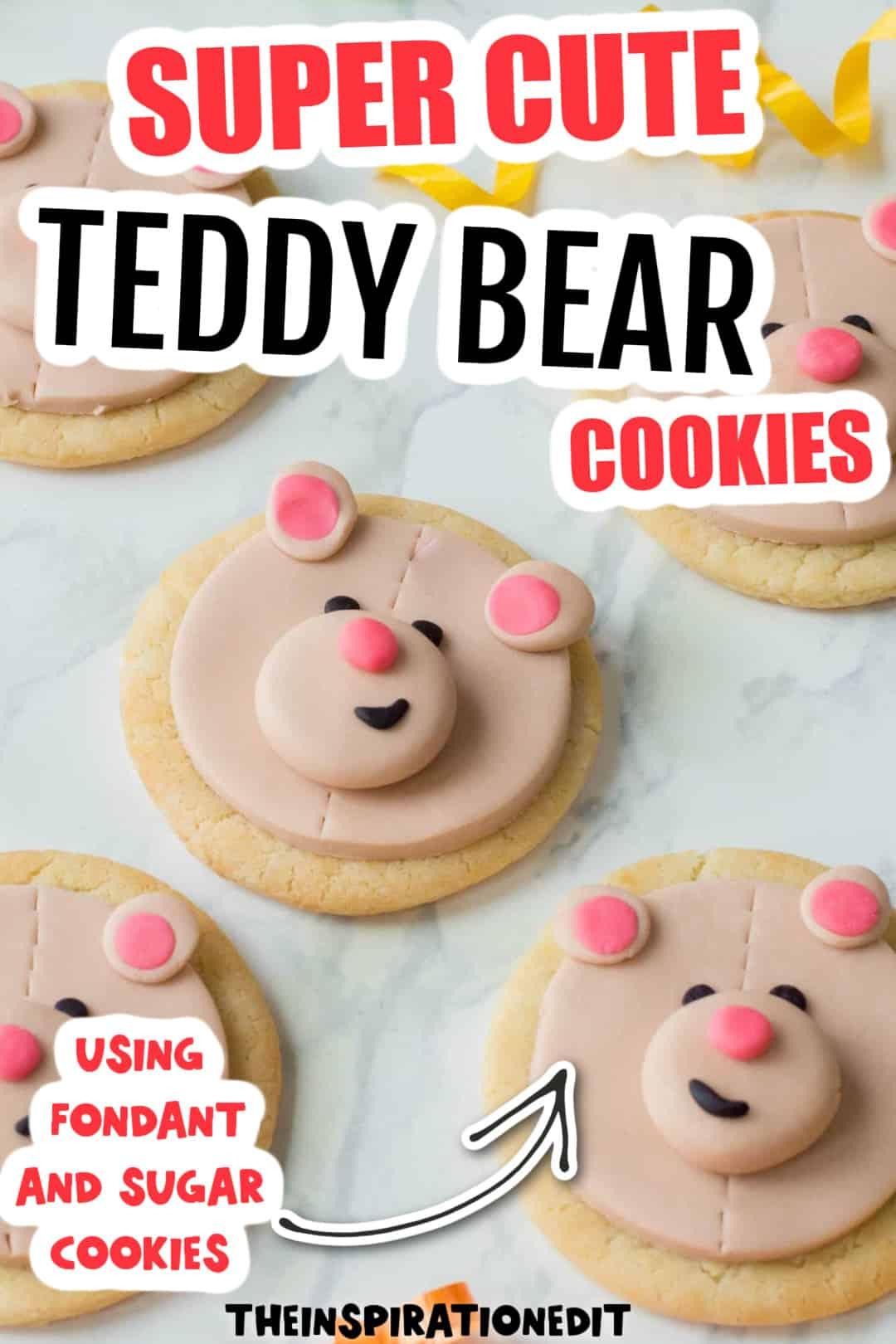 teddy bear face cookies
