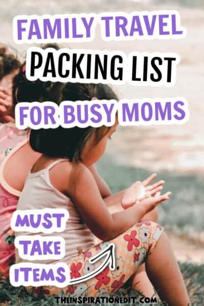 family-travel packing list