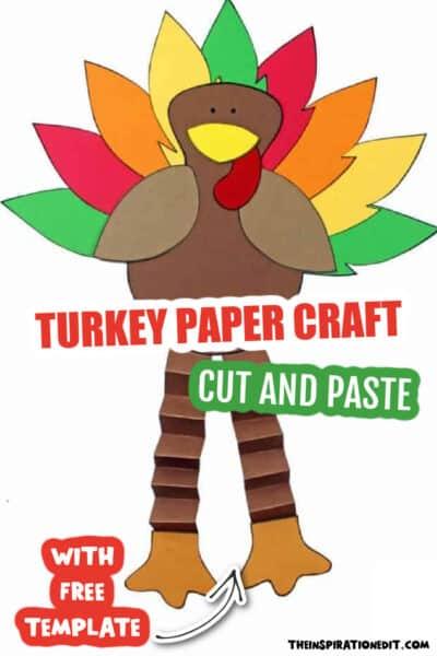 turkey paper craft for kids