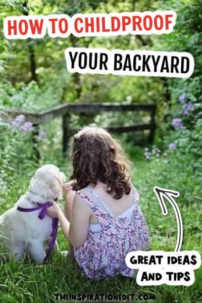 childproof backyard