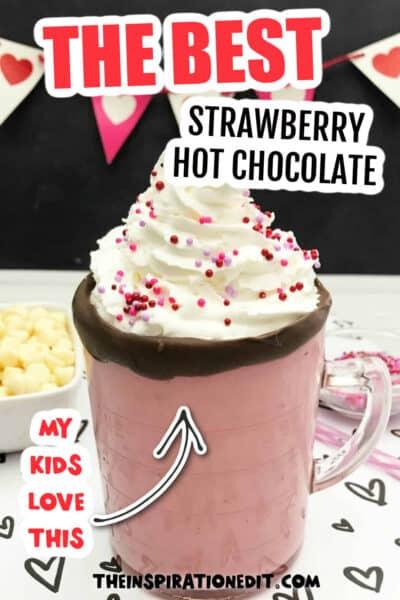 Strawberry White Hot Chocolate