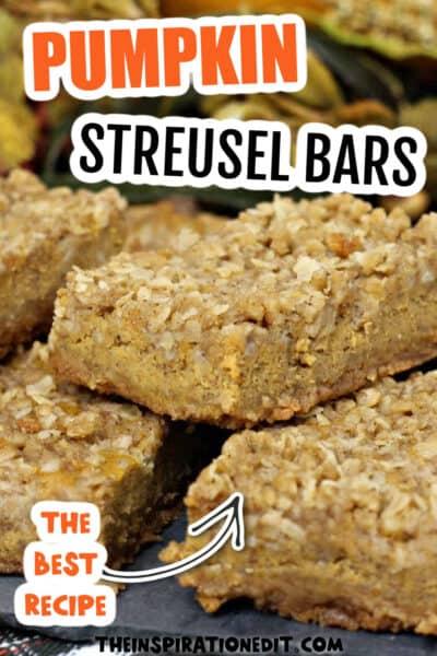 pumpkin streusel bars