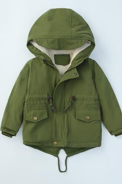 Toddler-Unisex-Solid-Color-Hooded-Parka